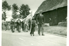 Band passing Franklins barn on Jubille Day 1935