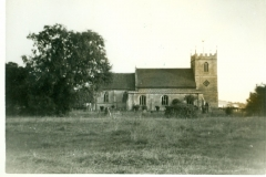 Church from Grasses - young Yew trees