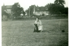 Phyllis William & Dog - in Grasses (now Baronhurst Drive)