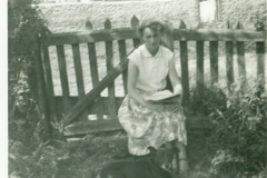 Phyllis Williams in Garden
