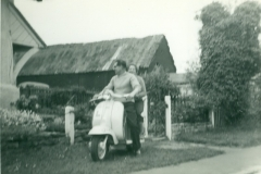 Reg Williams and Girl on Scooter - Belsons Farmyard (Post War) (1)